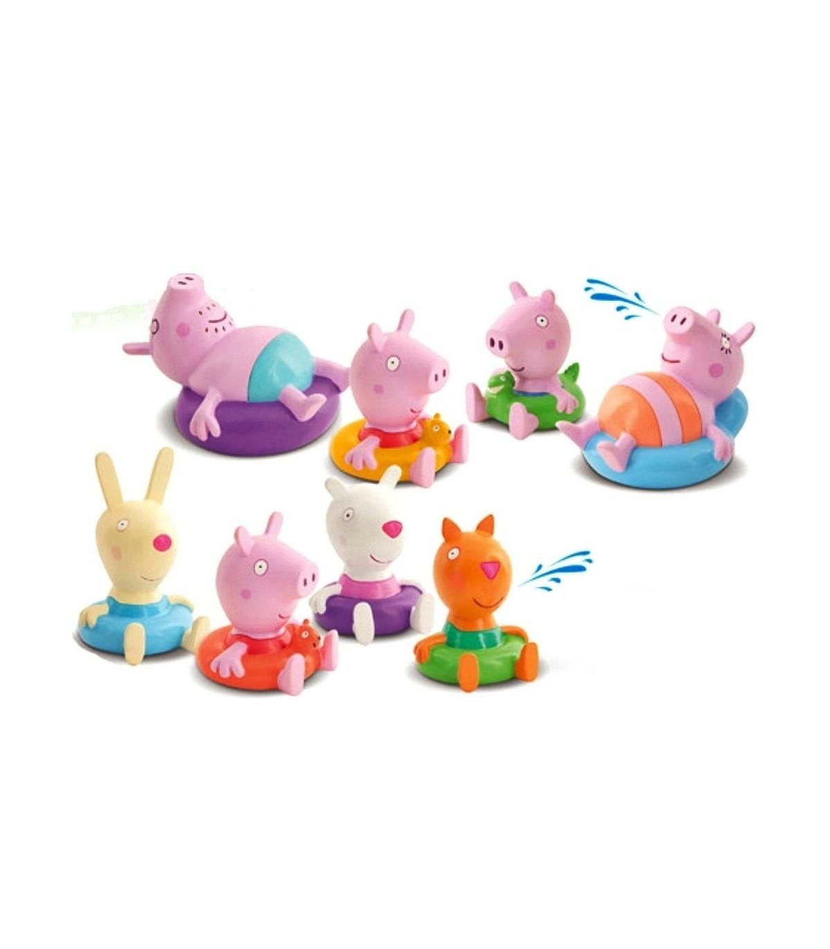 Pack 4 Figuras Bano Peppa Pig Surt Peppa Y Su Familia Peppa Y