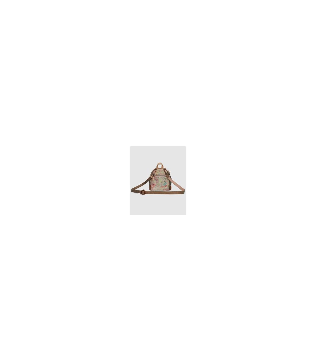 bd0d4b457c5 Mochila mini de mujer Anekke multicolor con print frontal de la marca y charm  extraíble